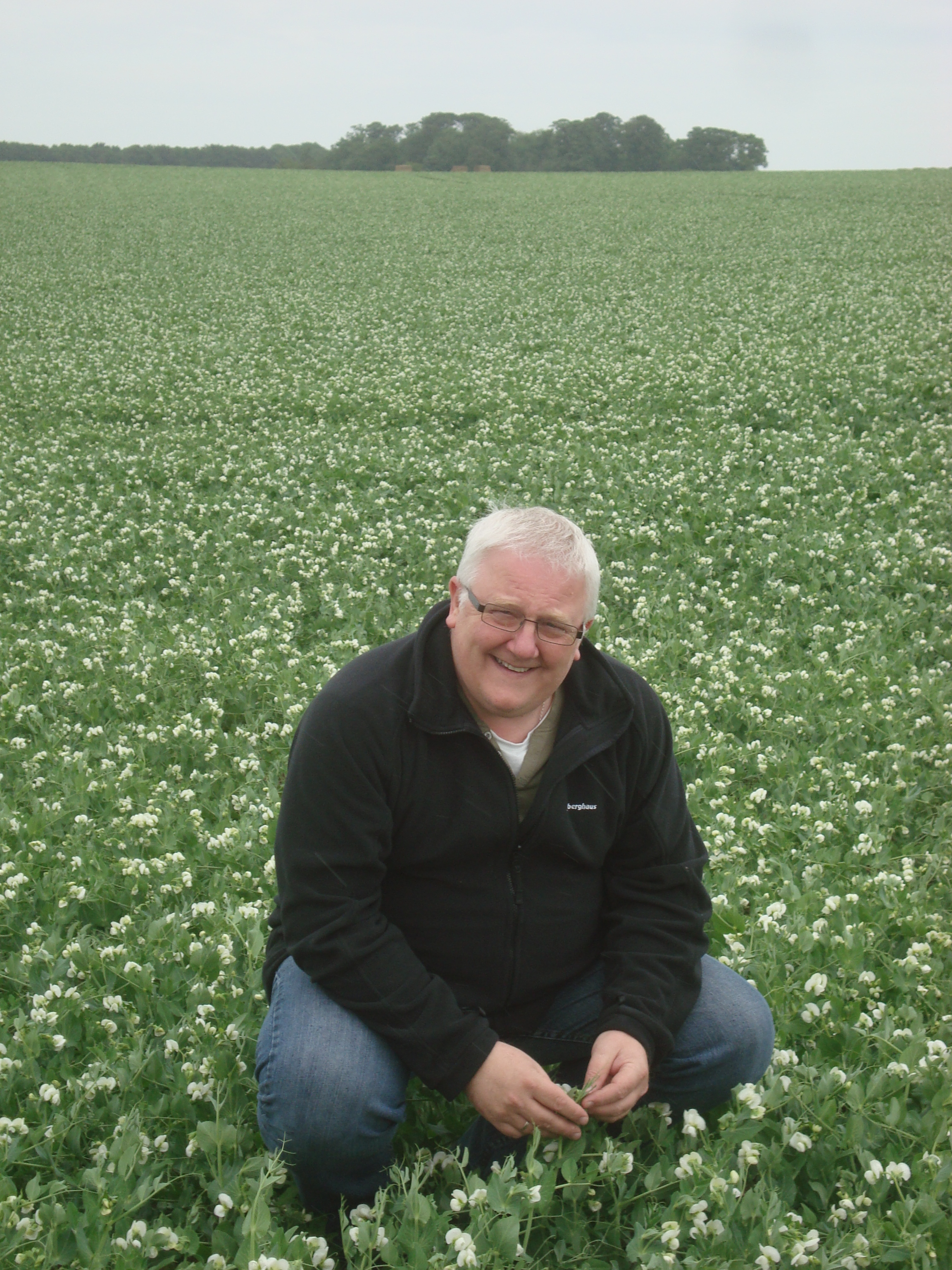 Stuart Ashton the Customer from PinguinLutosa out inspecting the coming seasons crops